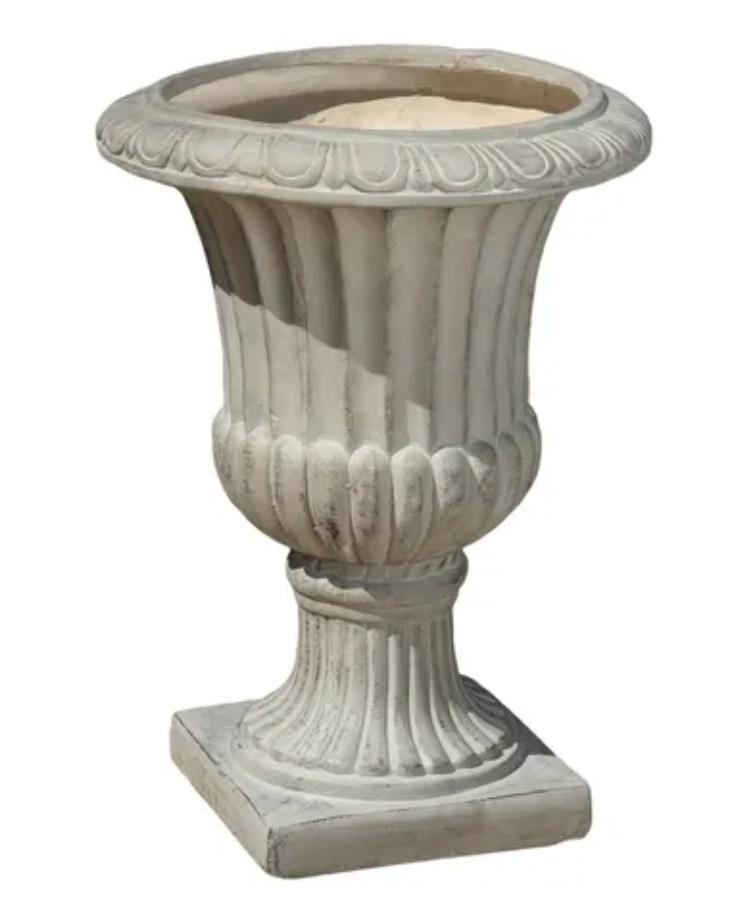 faux concrete urn