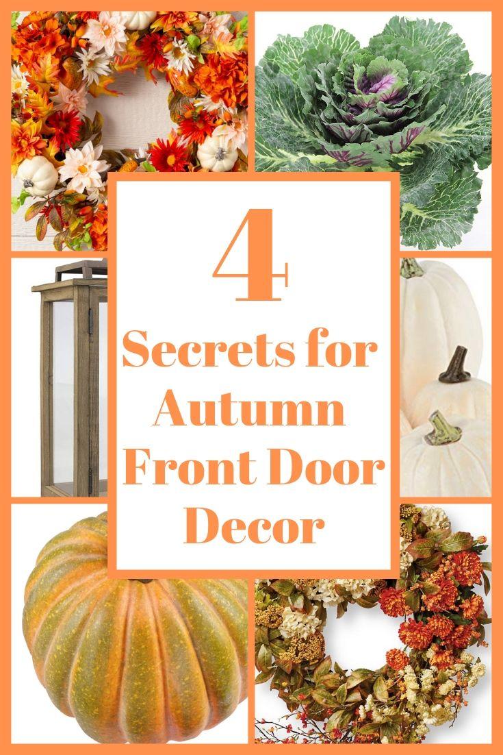 4 secrets for autumn door decor
