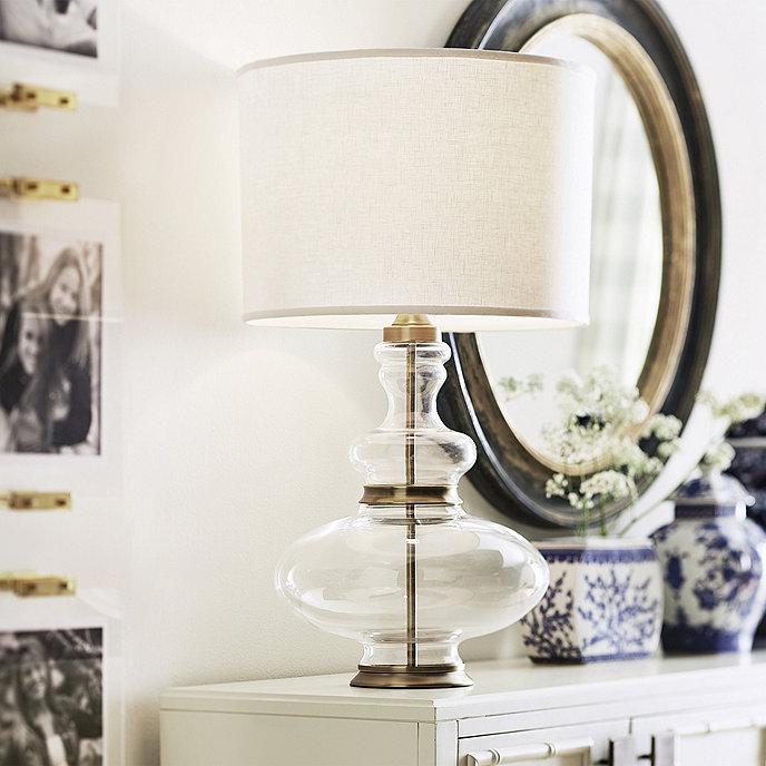 Love this versatile glass lamp base