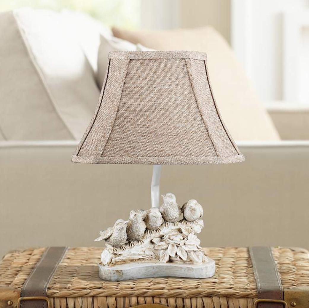 Sweet bird lamp - perfect for a bookshelf