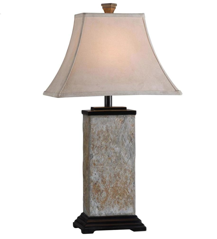Stylish slate lamp