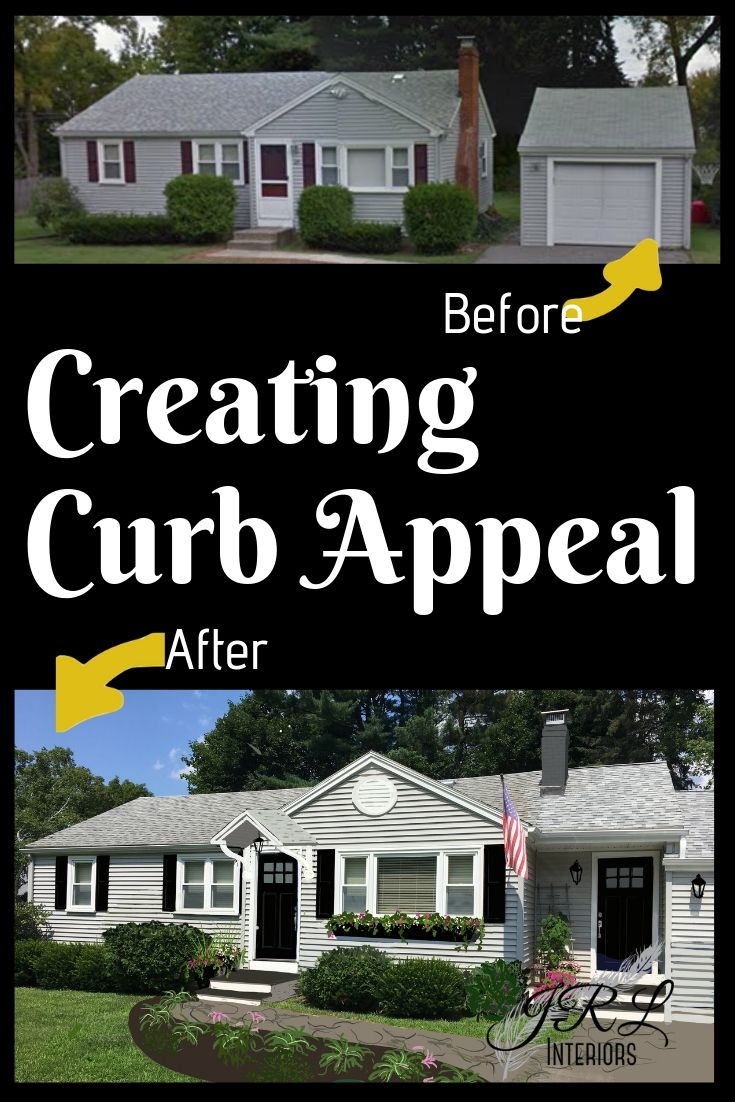 Before and After Curb Appeal