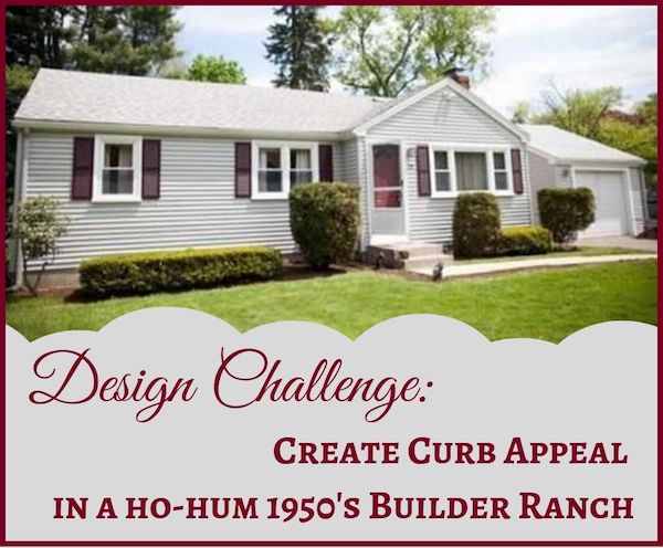 Design Challenge: creating curb appeal in a builder 1950's ranch