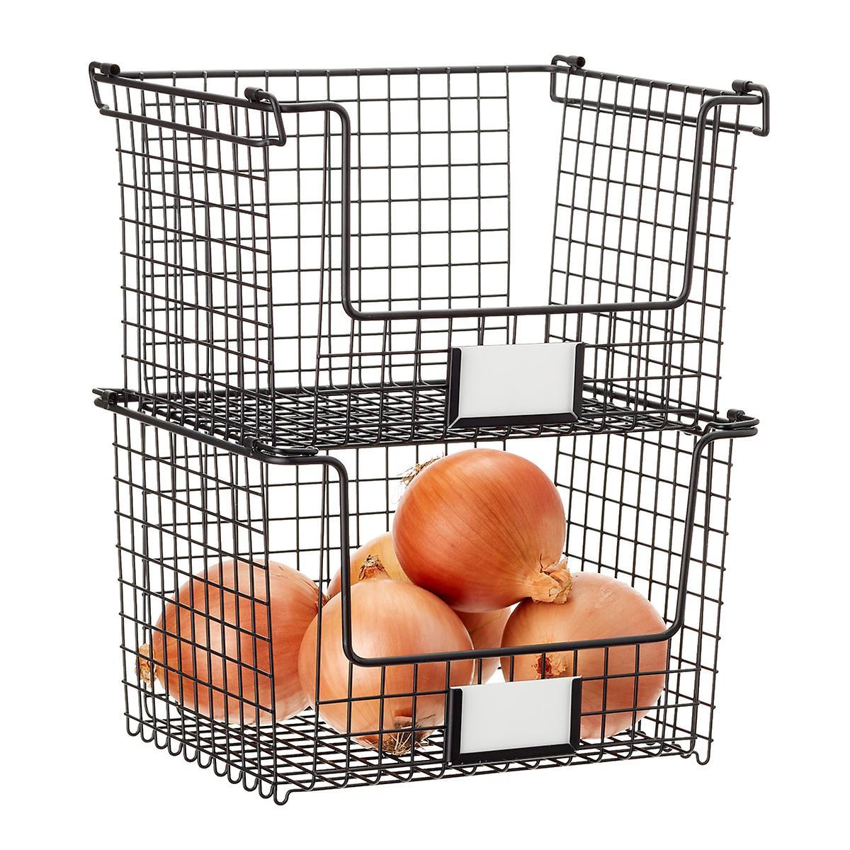 stacking mesh baskets