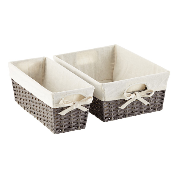 lined pantry baskets