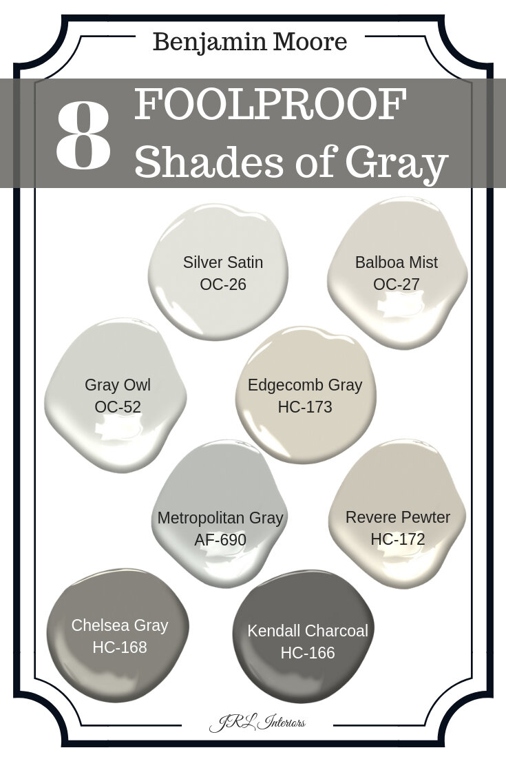 Shades of Gray | Gray Paint Colors | Foolproof Neutral Colors