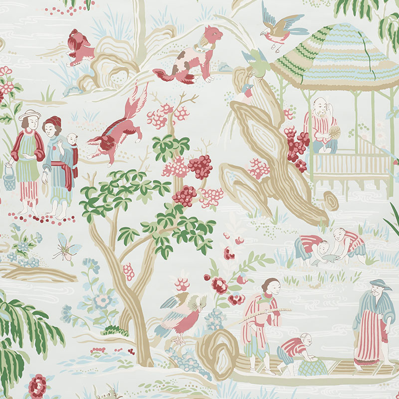 Schumacher chinoiserie wallcovering