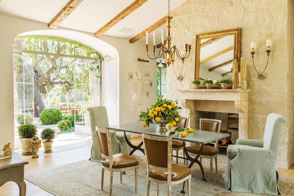 This is an authentic farmhouse dining room from the classic California farmhouse, Patina Farm, designed by owners and incredibly talented duo   Brooke and Steve Gianetti.   Photo by   Lisa Romerien