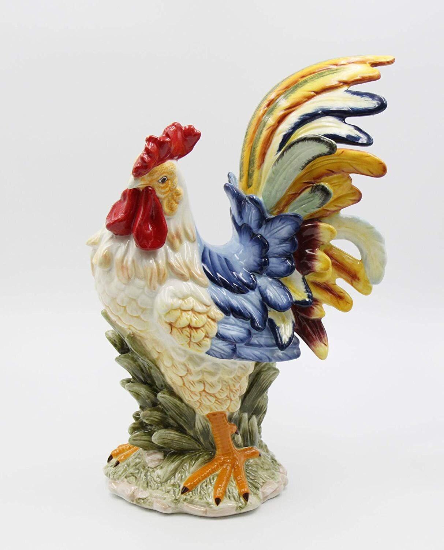 Glaring   ceramic rooster