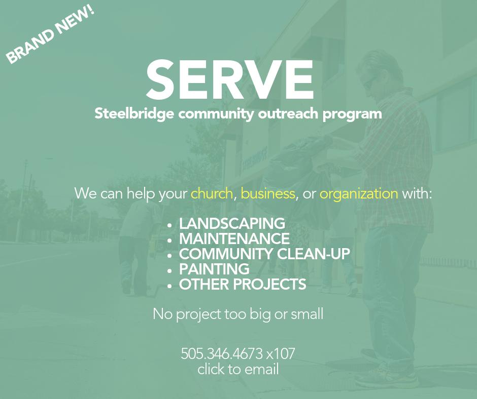Albuquerque Homeless Steelbridge SERVE