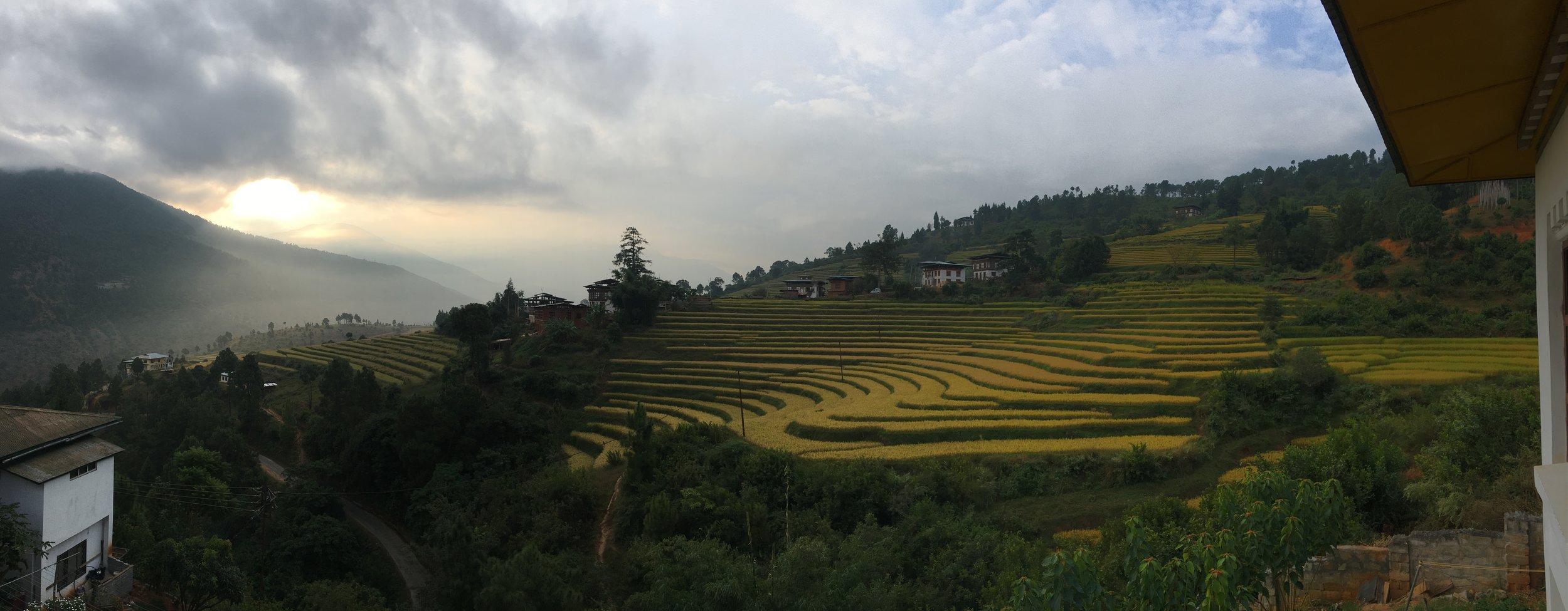 Sunrise in Pukahana, Bhutan