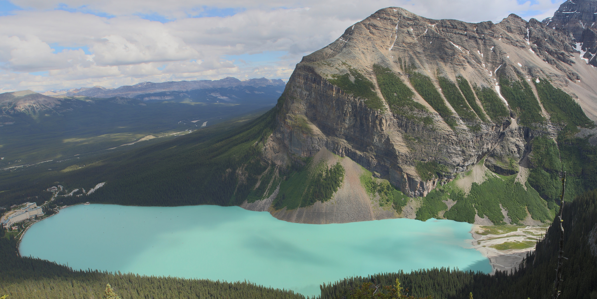 View of Lake Louise from the Beehive - Alberta, Canada