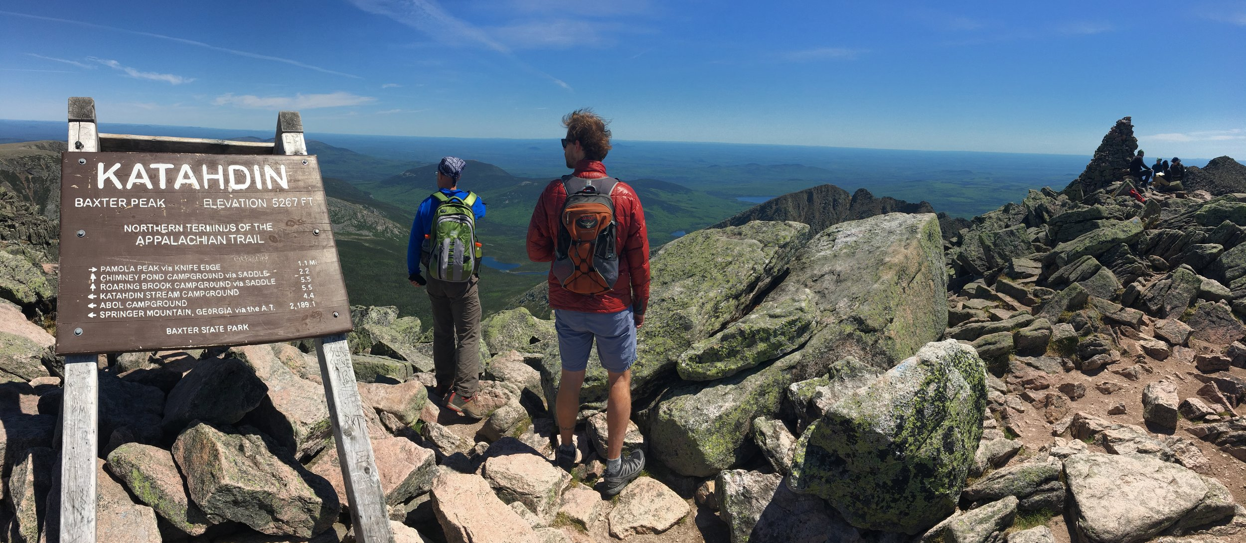 Top of Mt. Katahdin in Maine  - BRUTAL hike (brevity to describe a hike is better we think!)