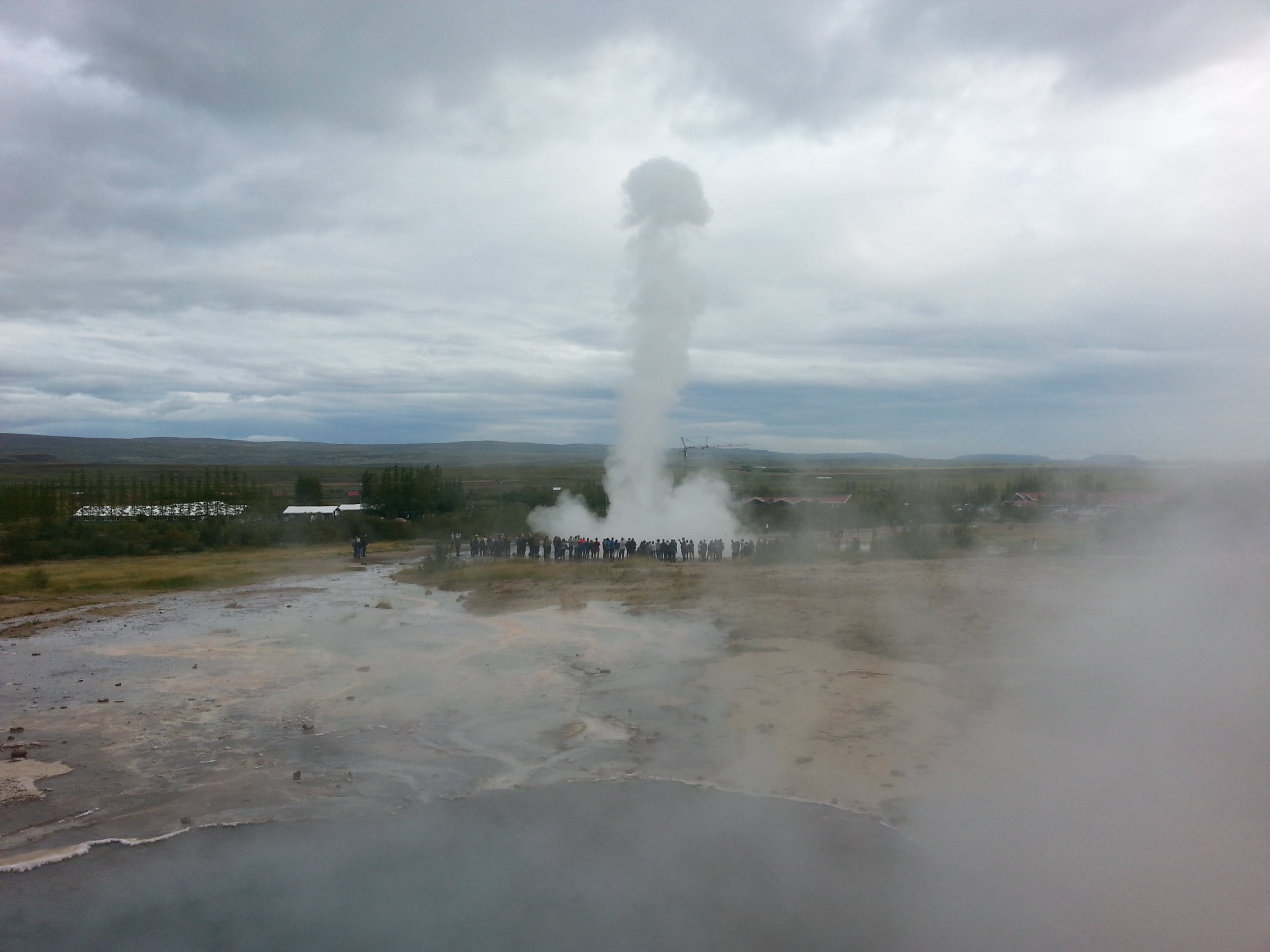Strokkur explodes like this every 10 minutes or so.