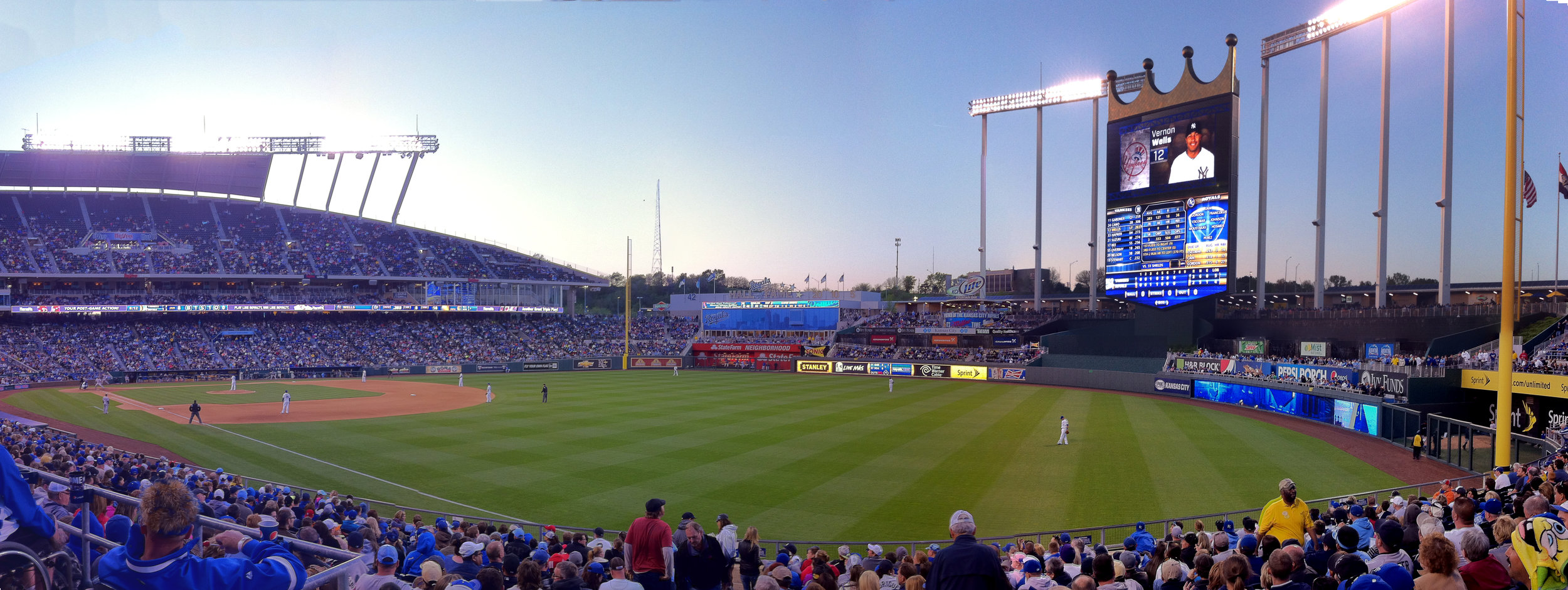 Kauffman Field (Kansas City) - The only other mid-century-modern stadium in the league. It's got a nice feel to it. Kansas City also has the best barbeque I've ever had IN MY LIFE. I didn't have a chance to go, but the Negro League Hall of Fame is there as well.