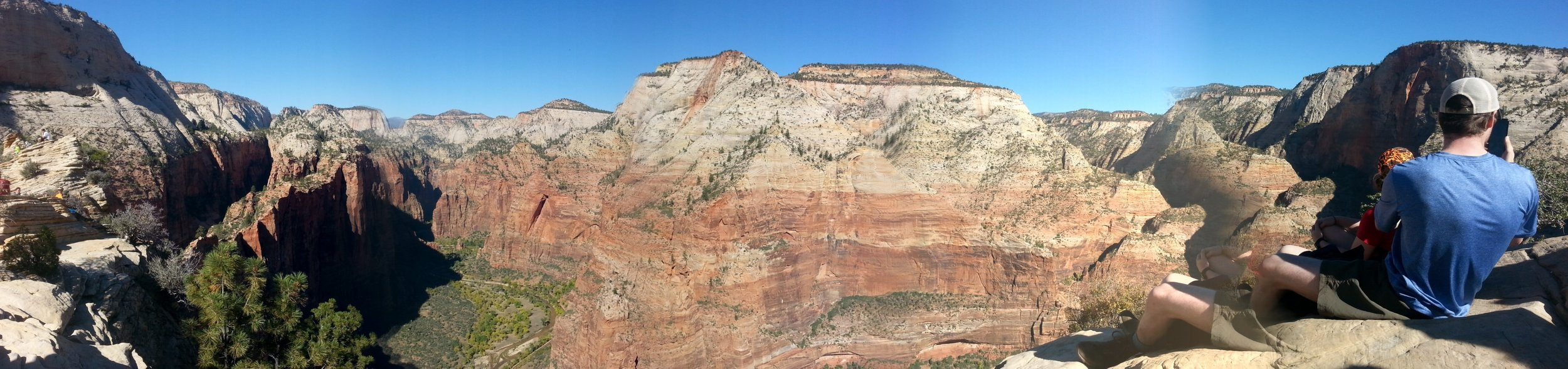 The Panoramic View from the top of Angels Landing in  Zion National Park.