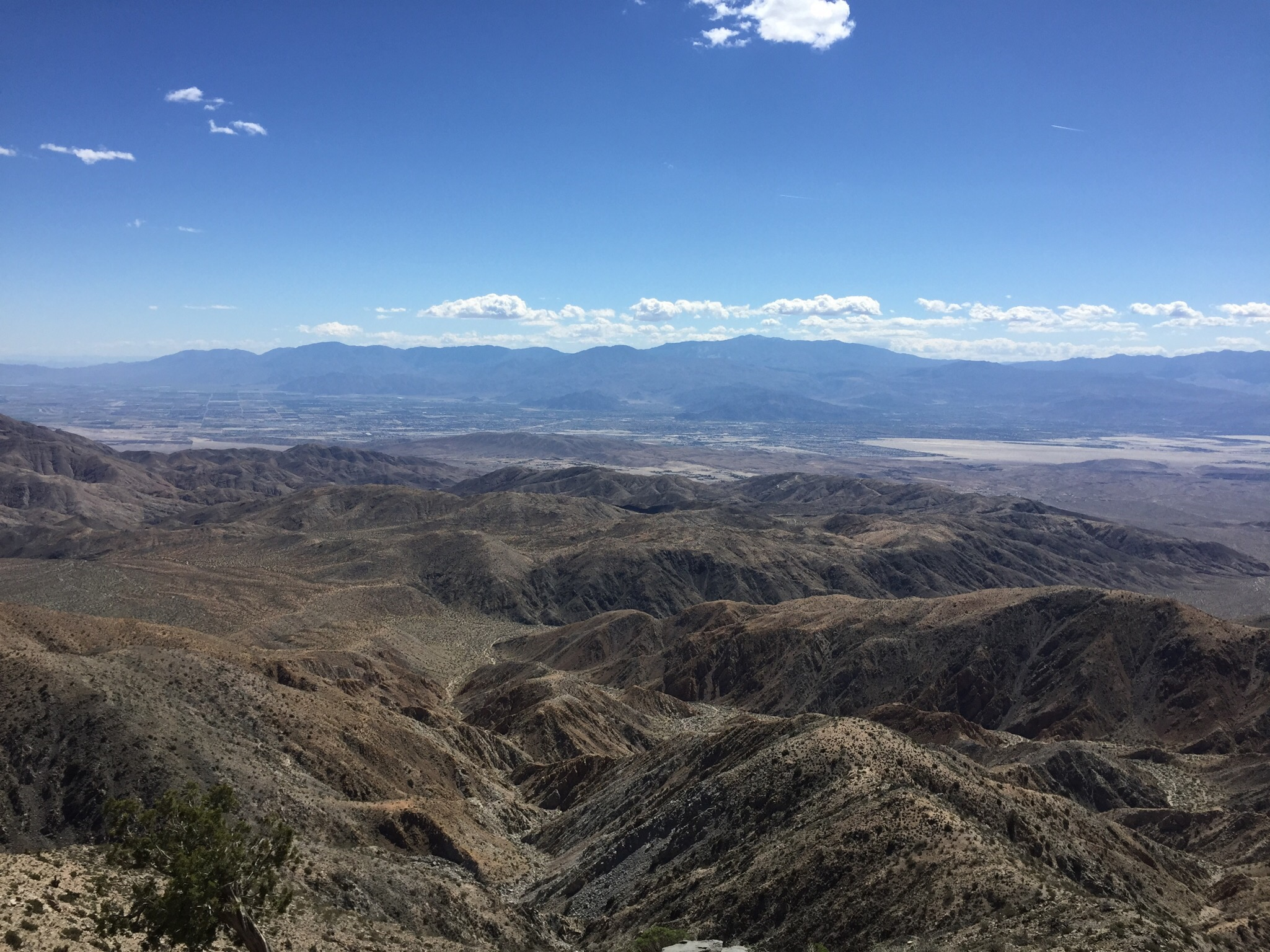This is actually a pic of the famous St. Andreas fault line from Keys View.  It's stunning to see and gives you a real powerful dose of nature shivers.