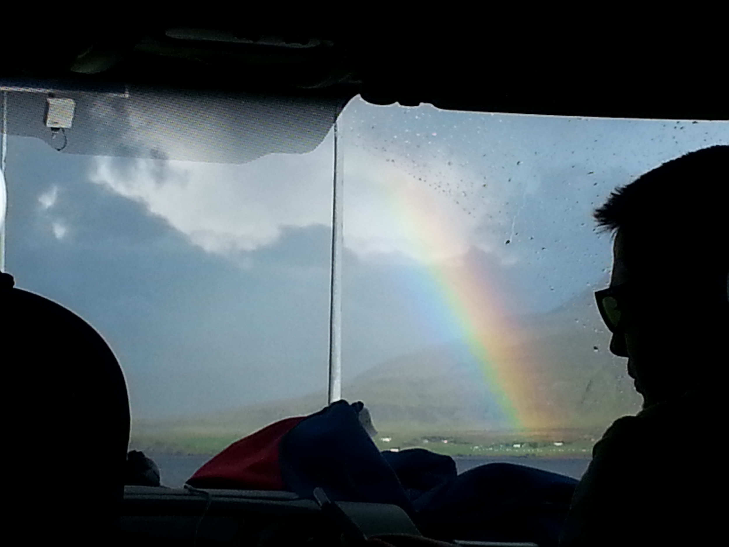 Rainbows were always welcome during our 4.5 hour drive to the capital!