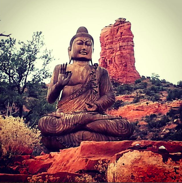 4. The  Amitabha Peace Park Stupa  in Sedona, Arizona is a dream for yogi's like myself.  Come out and catch one of the adjacent hiking trails, ones that you can jog to from the town, and then end with a calming meditation in this peace park.  Sedona has miles of amazing trails and red rock views but being a daily practitioner of yoga the park and an adjacent hike are my fave's!