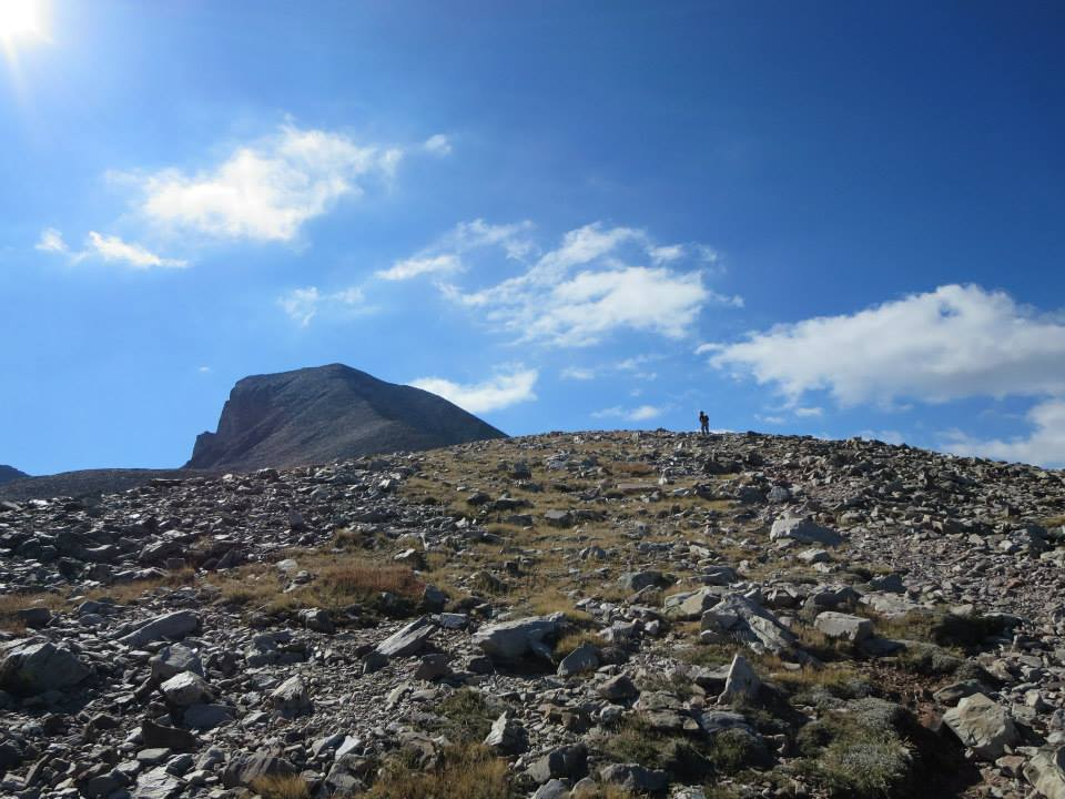 Flashbacks from 2013 in Wheeler Peak at  Great Basin National Park.  We were so close! But the wind kept knocking us down—literally.