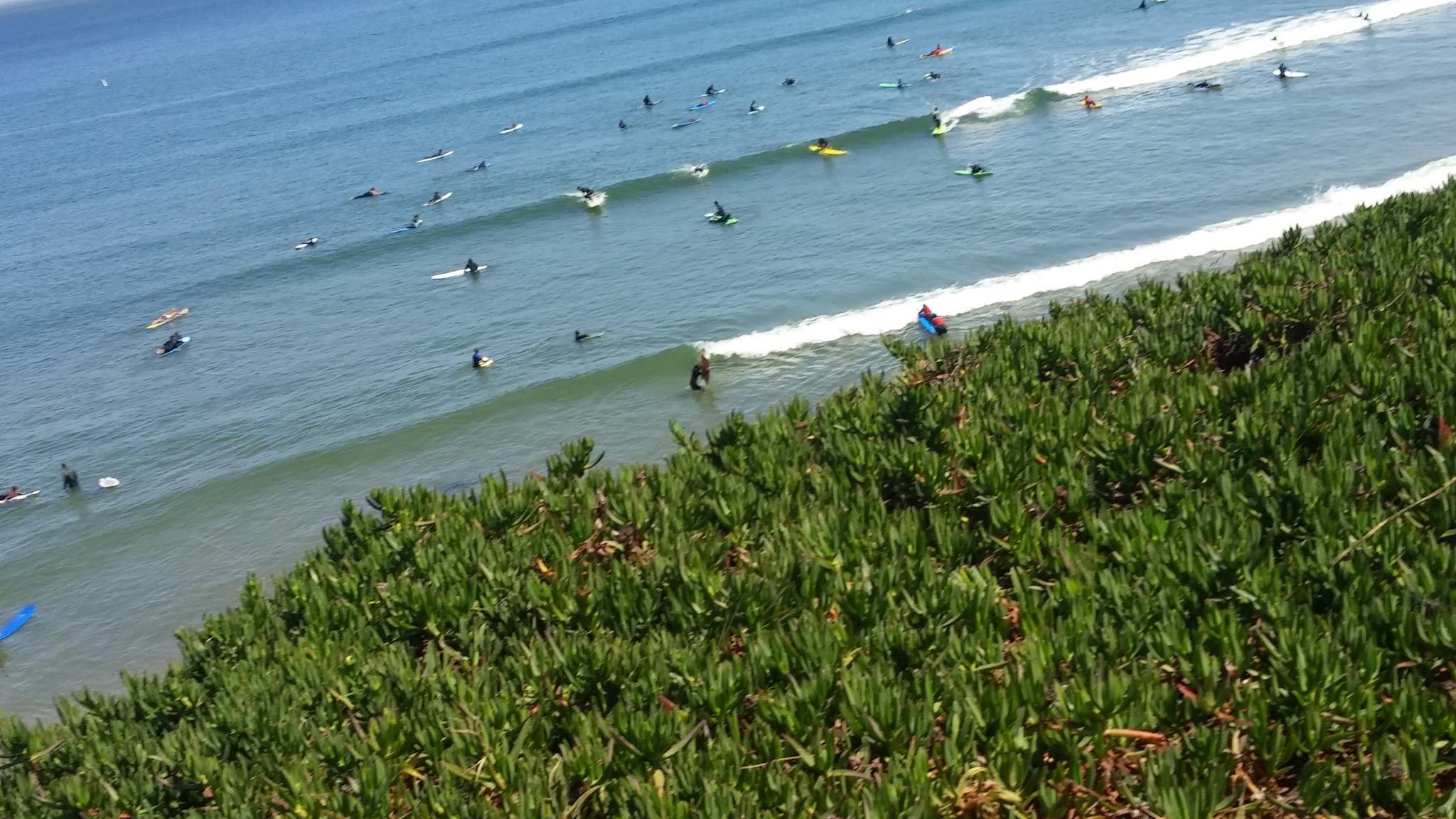 Some Santa Cruz surfing.