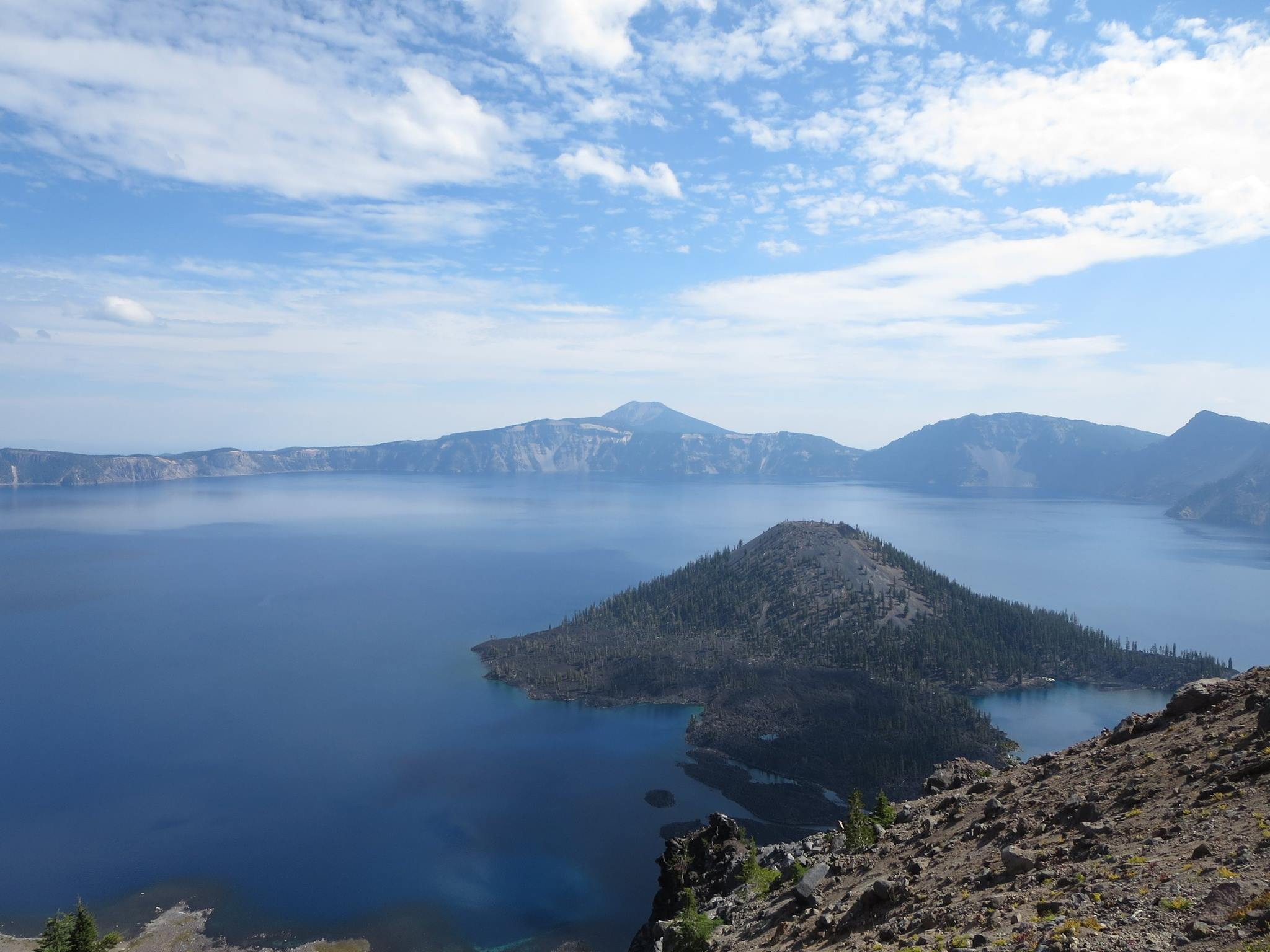 """I learned a lot about  Crater Lake,  thanks to an entertaining presentation by ranger Dave, who shared the """"Top 10 Reasons Why Crater Lake Isn't Just an Ordinary Lake"""" from the Sinnott Memorial Overlook."""