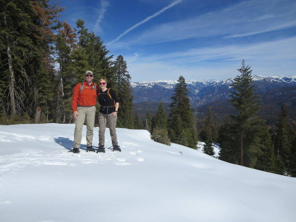 At  Kings Canyon National Park , a friendly park ranger advised us to snowshoe the Panoramic Point trail. Check out that view!
