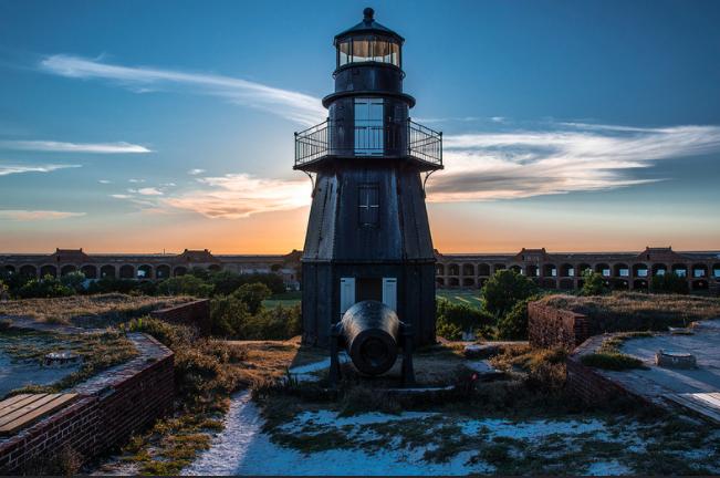 Garden Key Light, Fort Jefferson, Dry Tortugas NP.