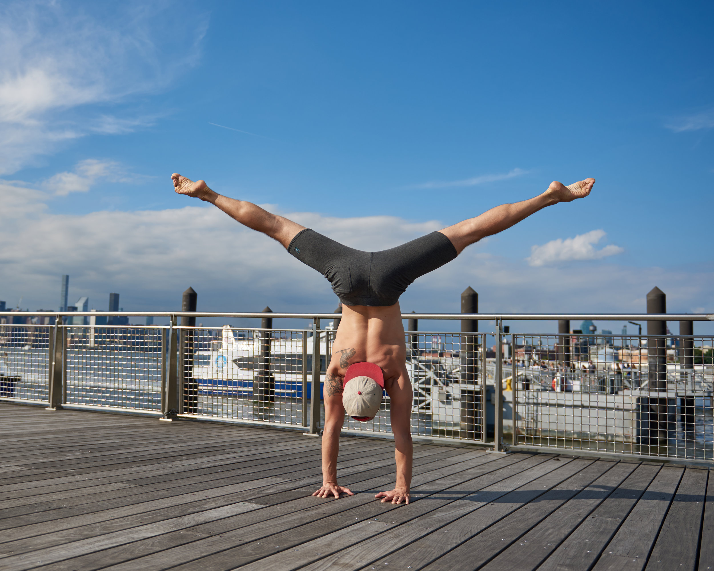 Handstand on a boardwalk!