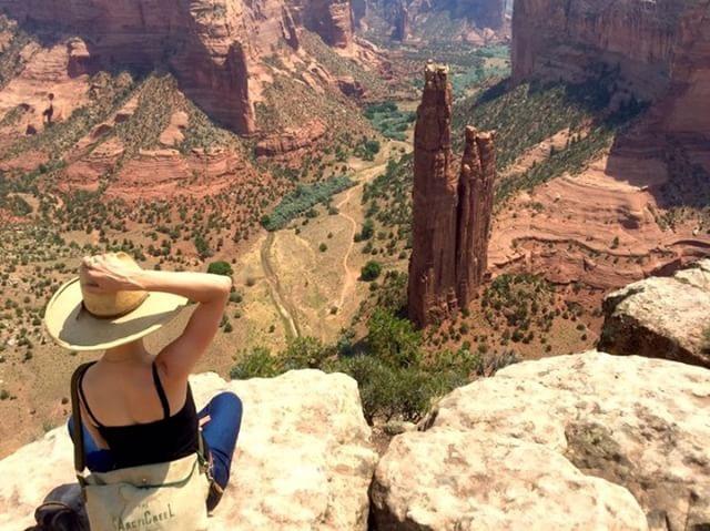 Spiderwoman Rock in Canyon de Chelley Arizona.