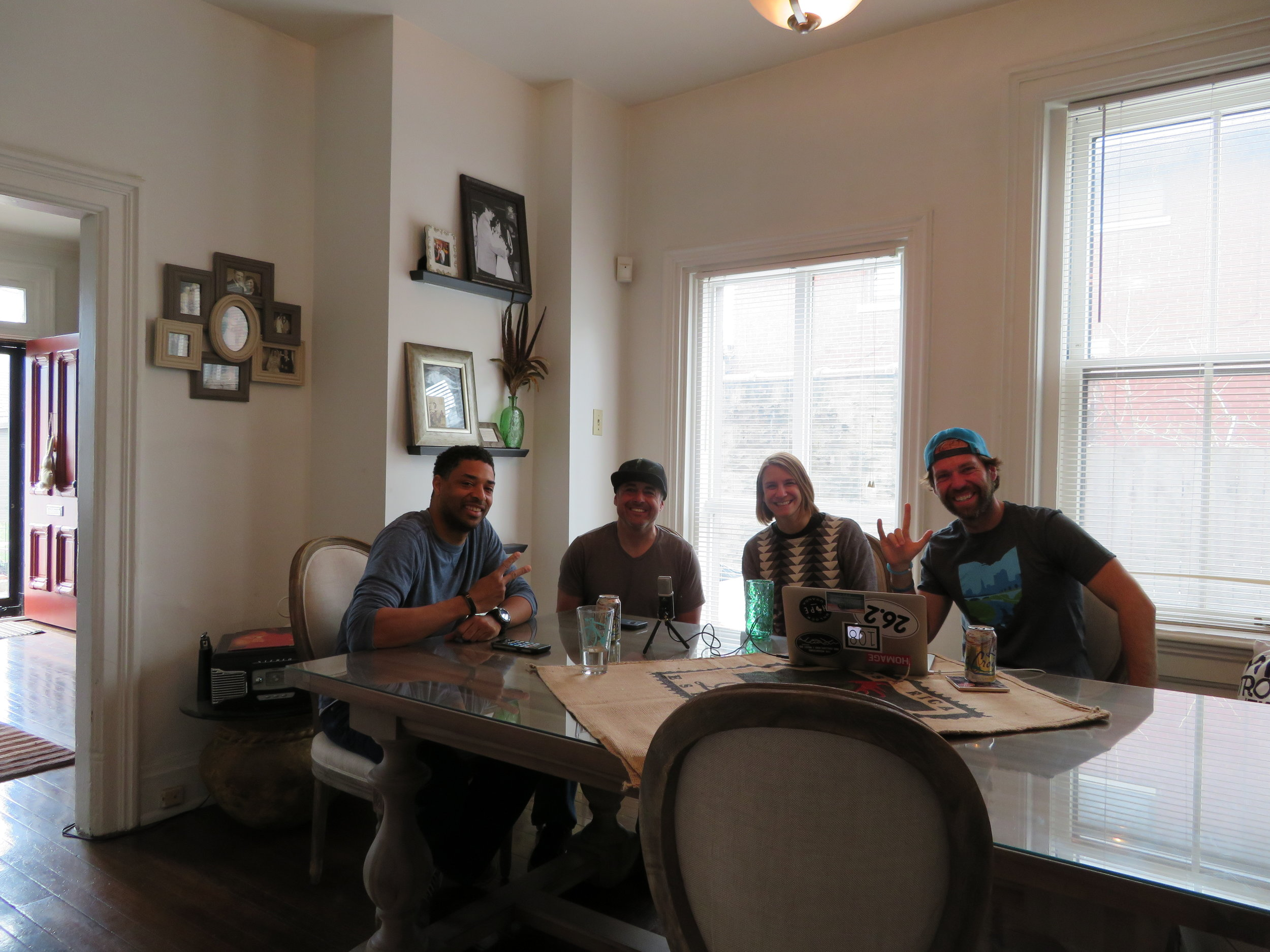 From left to right: Michael B from HERO USA, Dom from HERO USA, Amy K, and Mike R