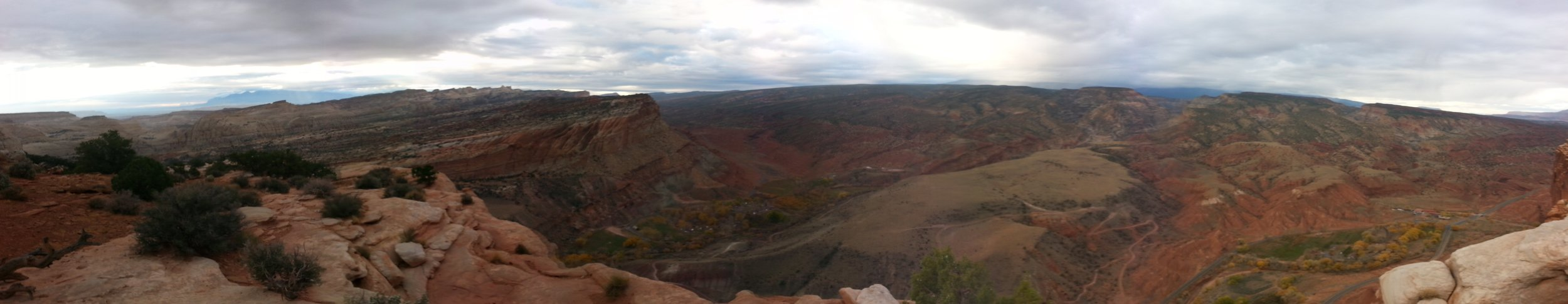 The view atop Chimney Rock!