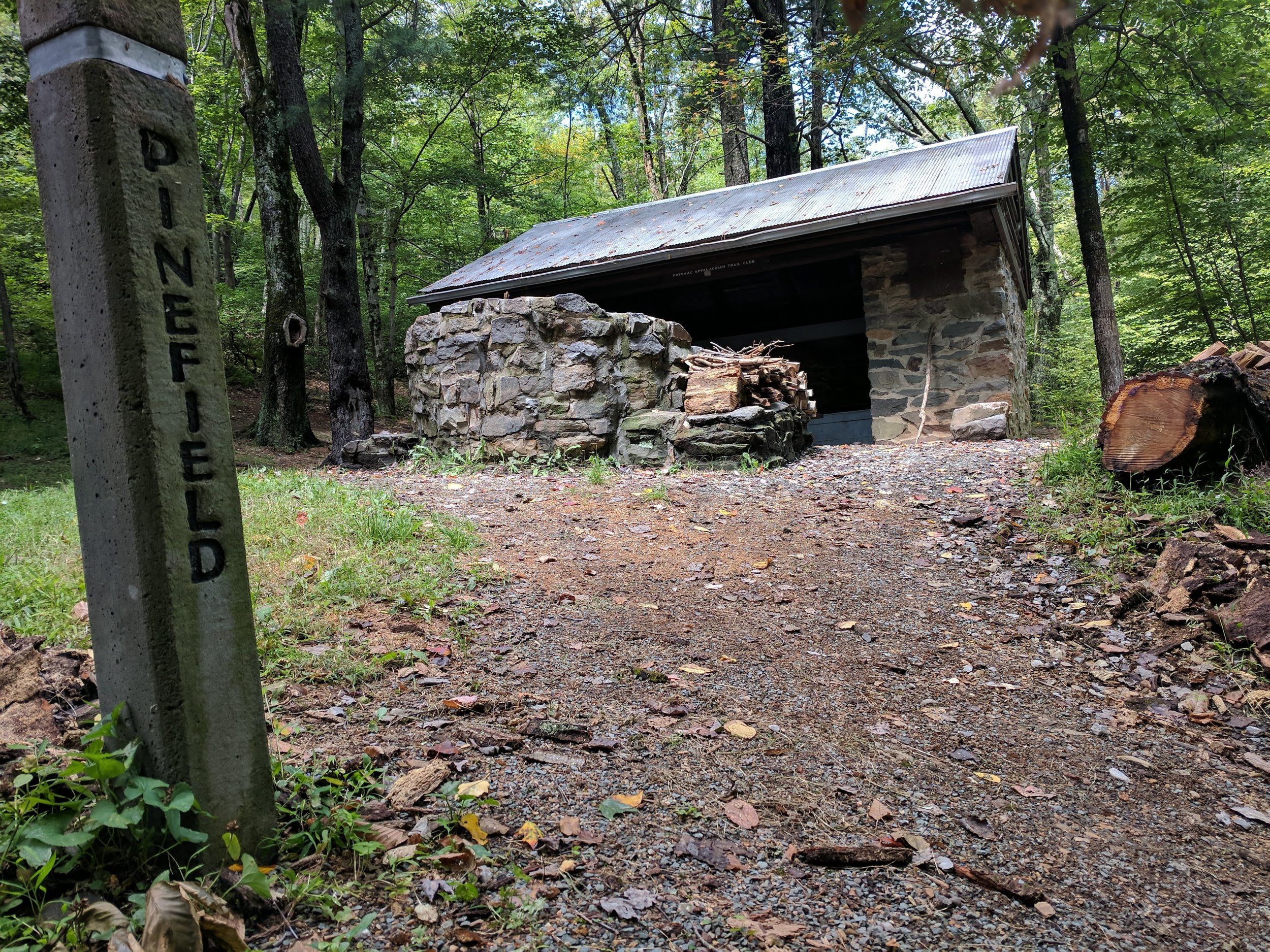 One of the many shelters from the Appalachian Trail that you will see on a hike through Shenandoah National Park