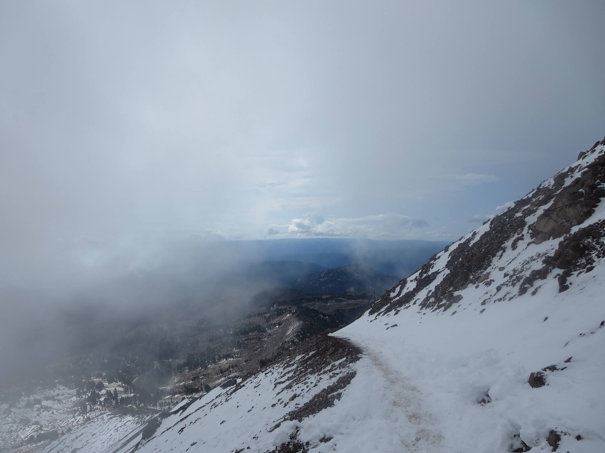 But after reaching the summit and making our way back down the trail… this happened.