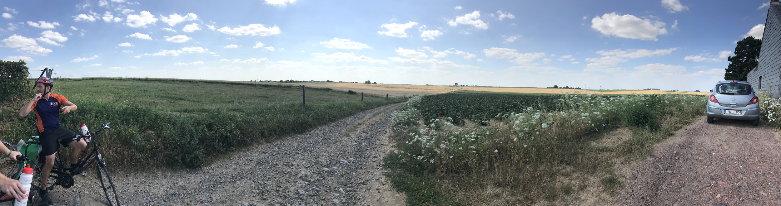 One of the many panoramic views of the Belgian and French countrysides with  Beer Cycling!