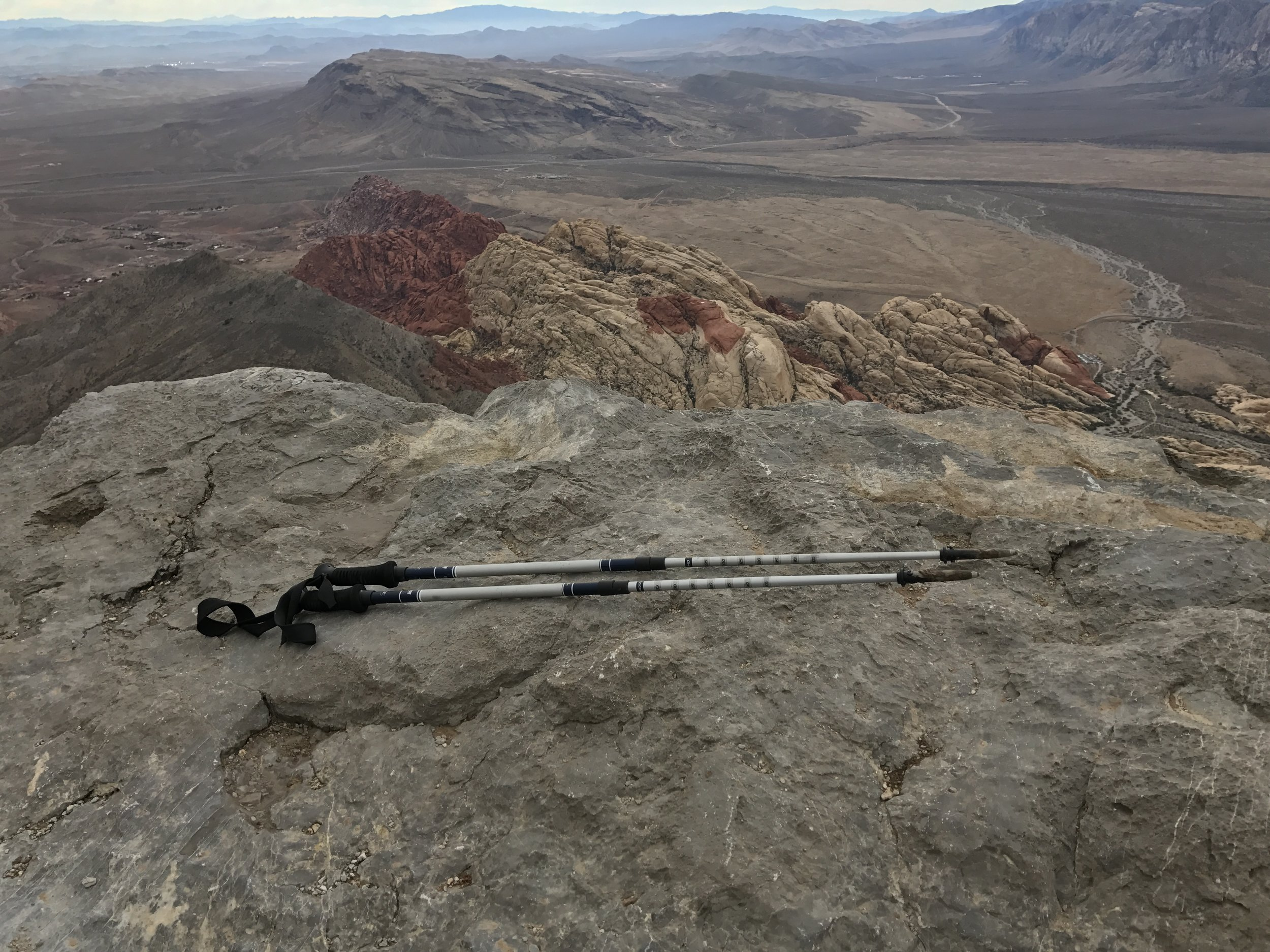 Hiking poles recommended for hiking Turtlehead Peak, North Peak, and Bridge Mountain in Red Rock!