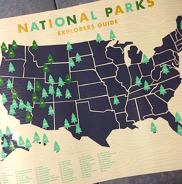 All of our guests on today's podcast track their visits to the National Parks. Here's how Rita V tracks hers!