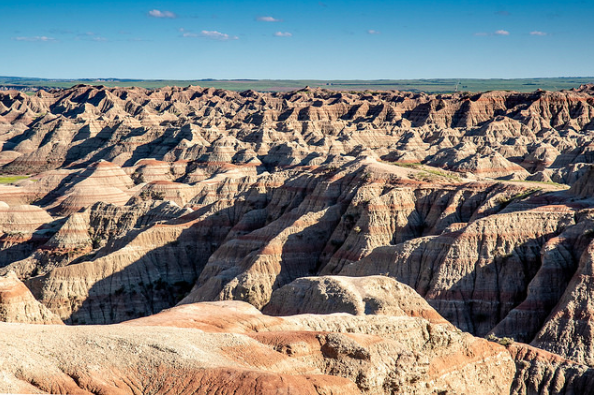 The Badlands are known for their rugged and wonderful views like this one.