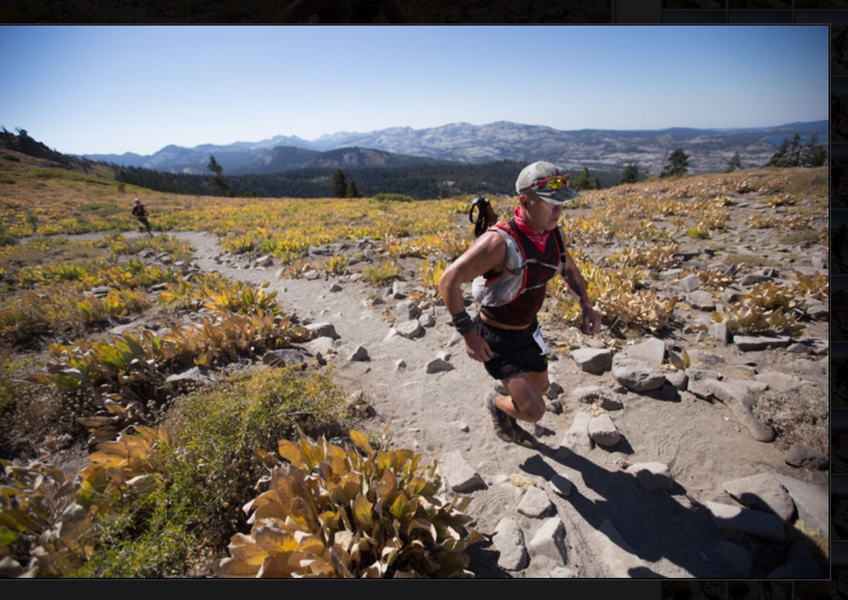 Reggie O at the Tahoe 200 Endurance Run.