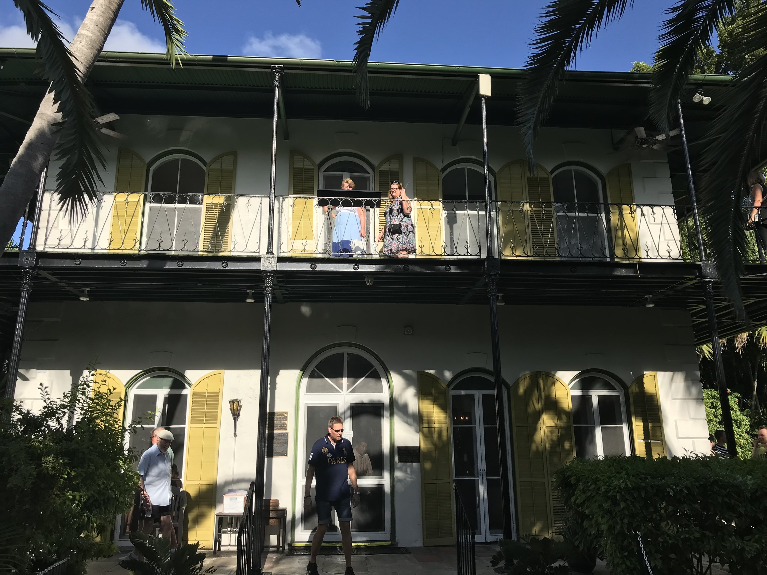 The Hemingway Home from out front.