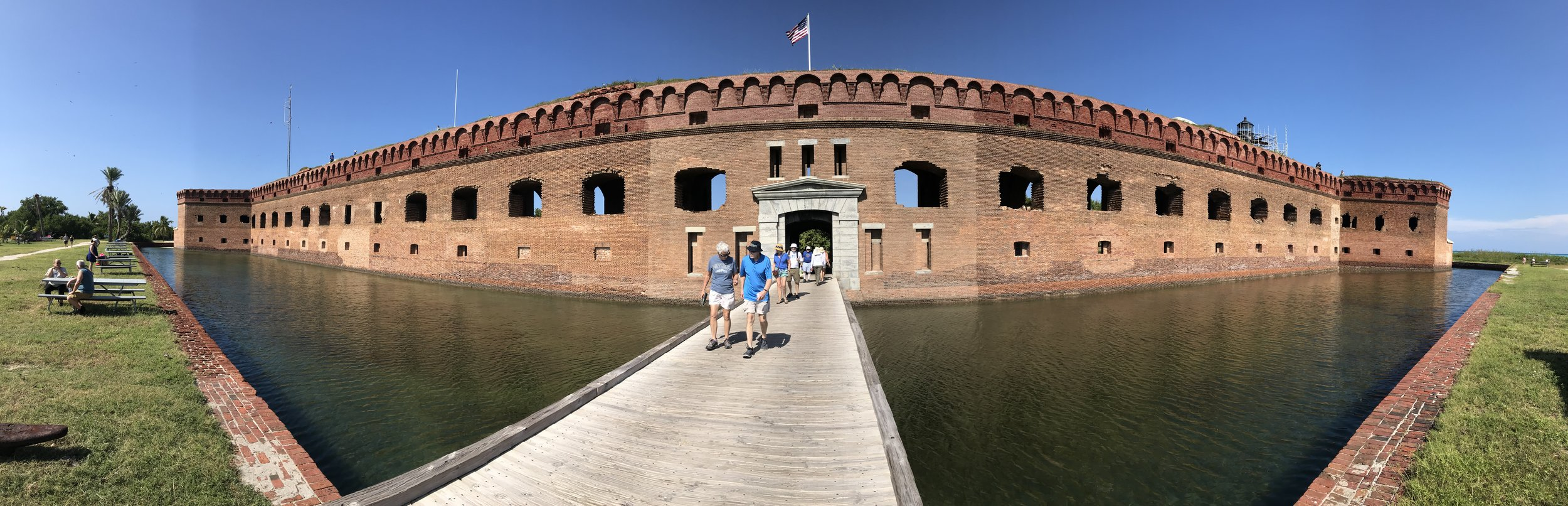 Panoramic view of Fort Jefferson on the Dry Tortugas.