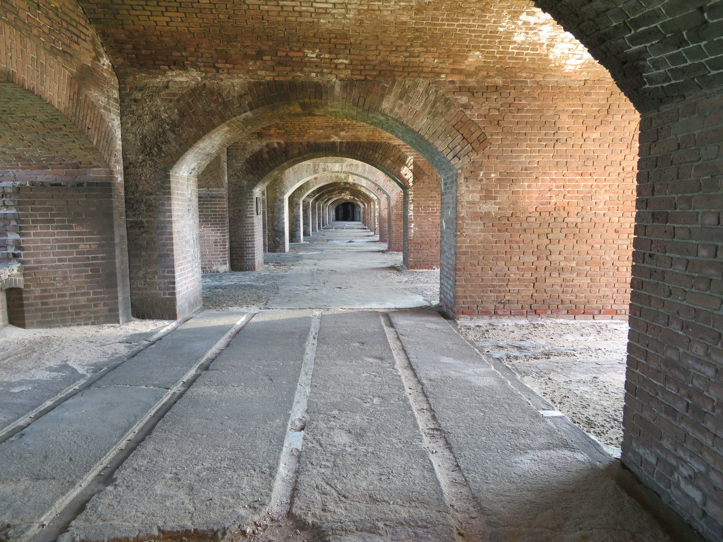 Inside Fort Jefferson.