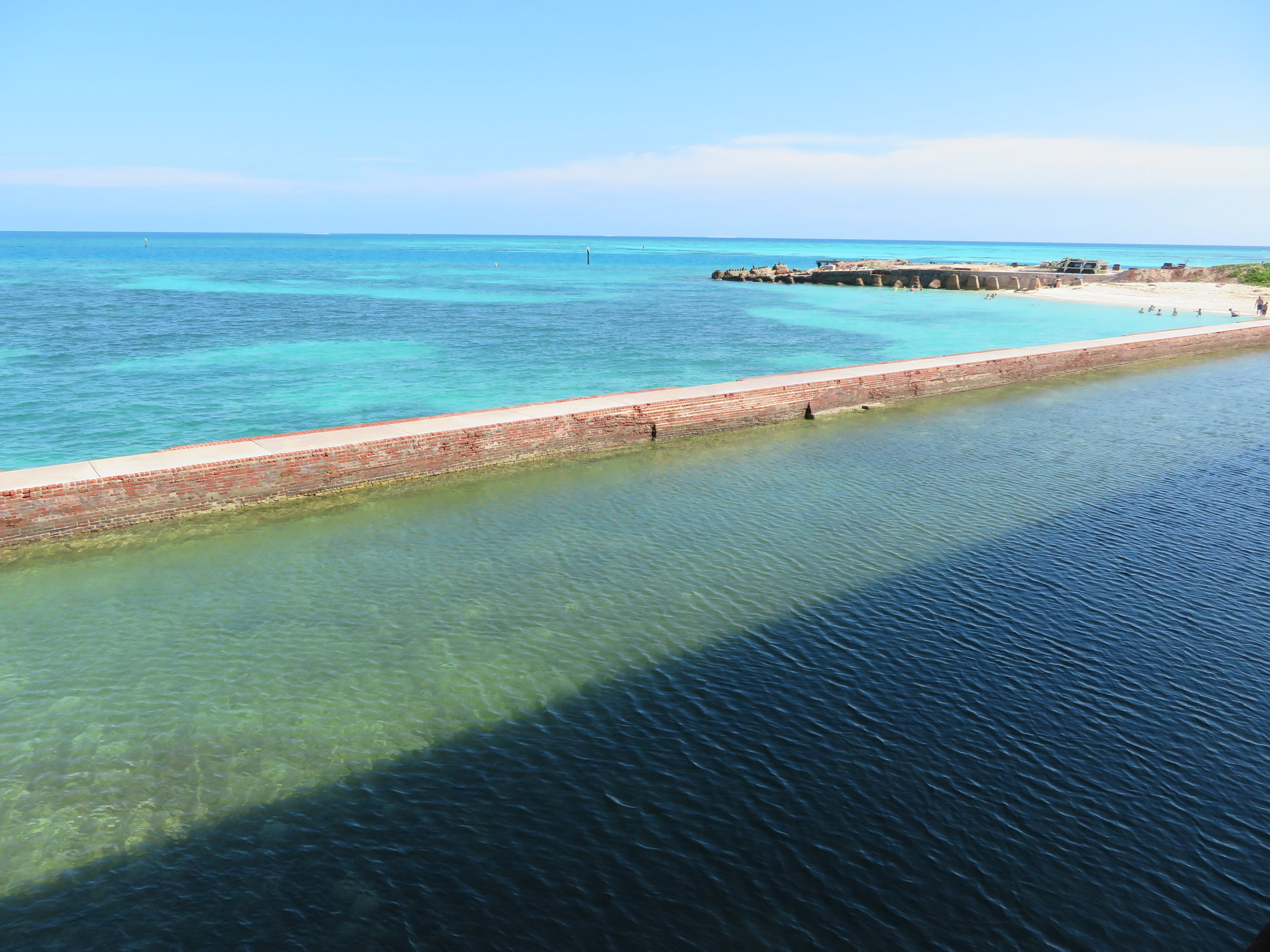 Hard to beat views atop Fort Jefferson looking out into the Gulf of Mexico.