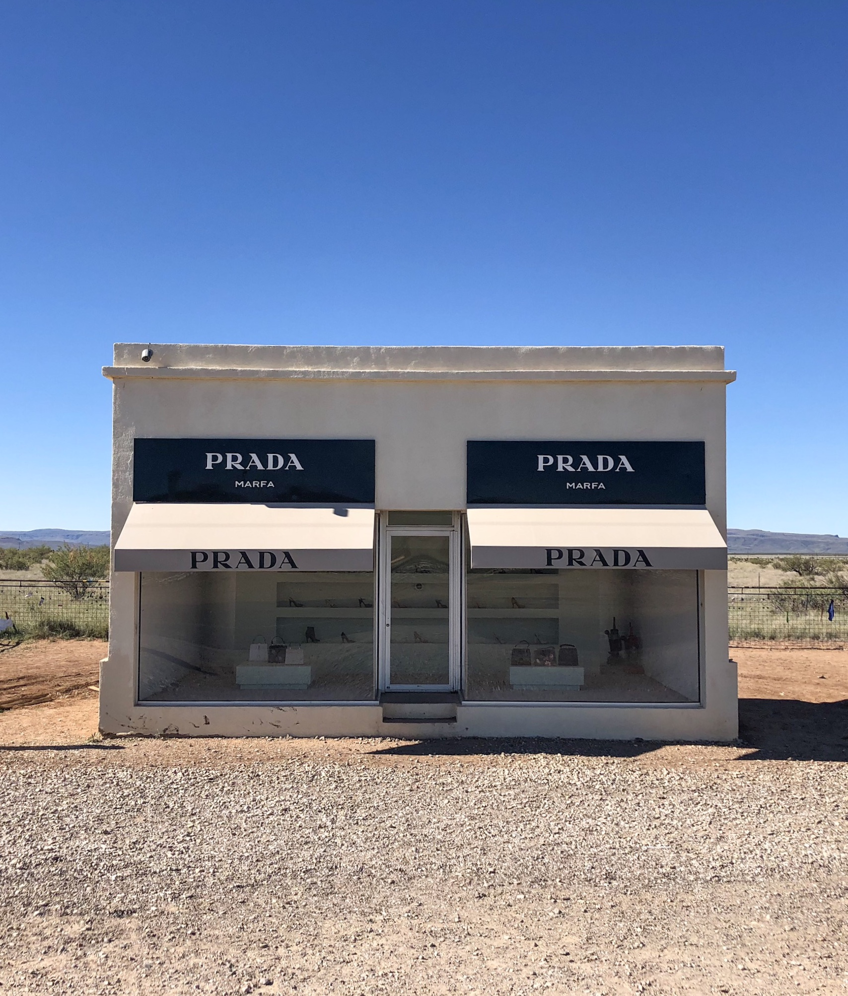 The lonesome Prada on the way to Guadalupe Mountains NP.