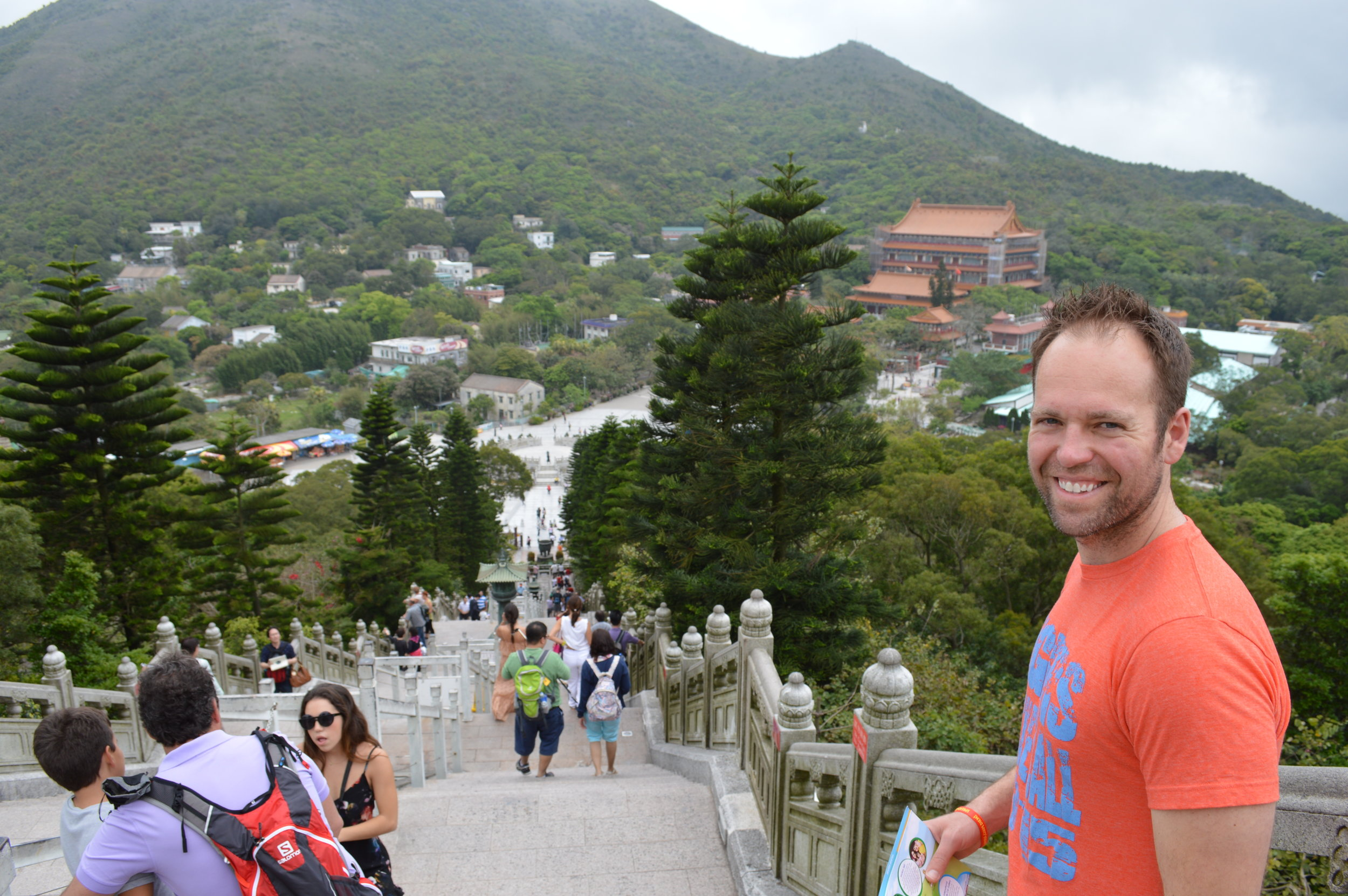 "Heading up to see ""The Big Buddha"" at the  Po Lin Monastery."