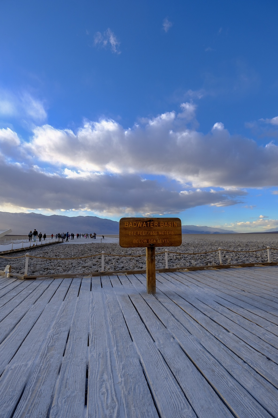 Badwater Basin: The lowest point in North America.