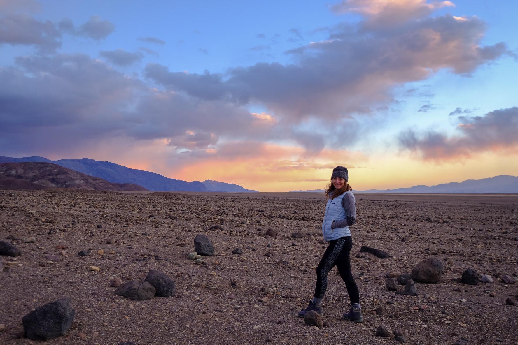 Sunset in Death Valley.