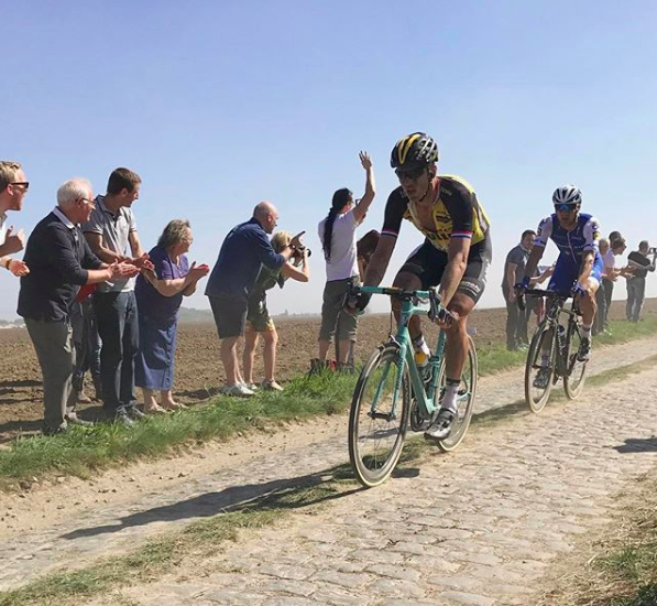 Photo cred from our special guest Ian R when witnessing Paris Roubaix in person.