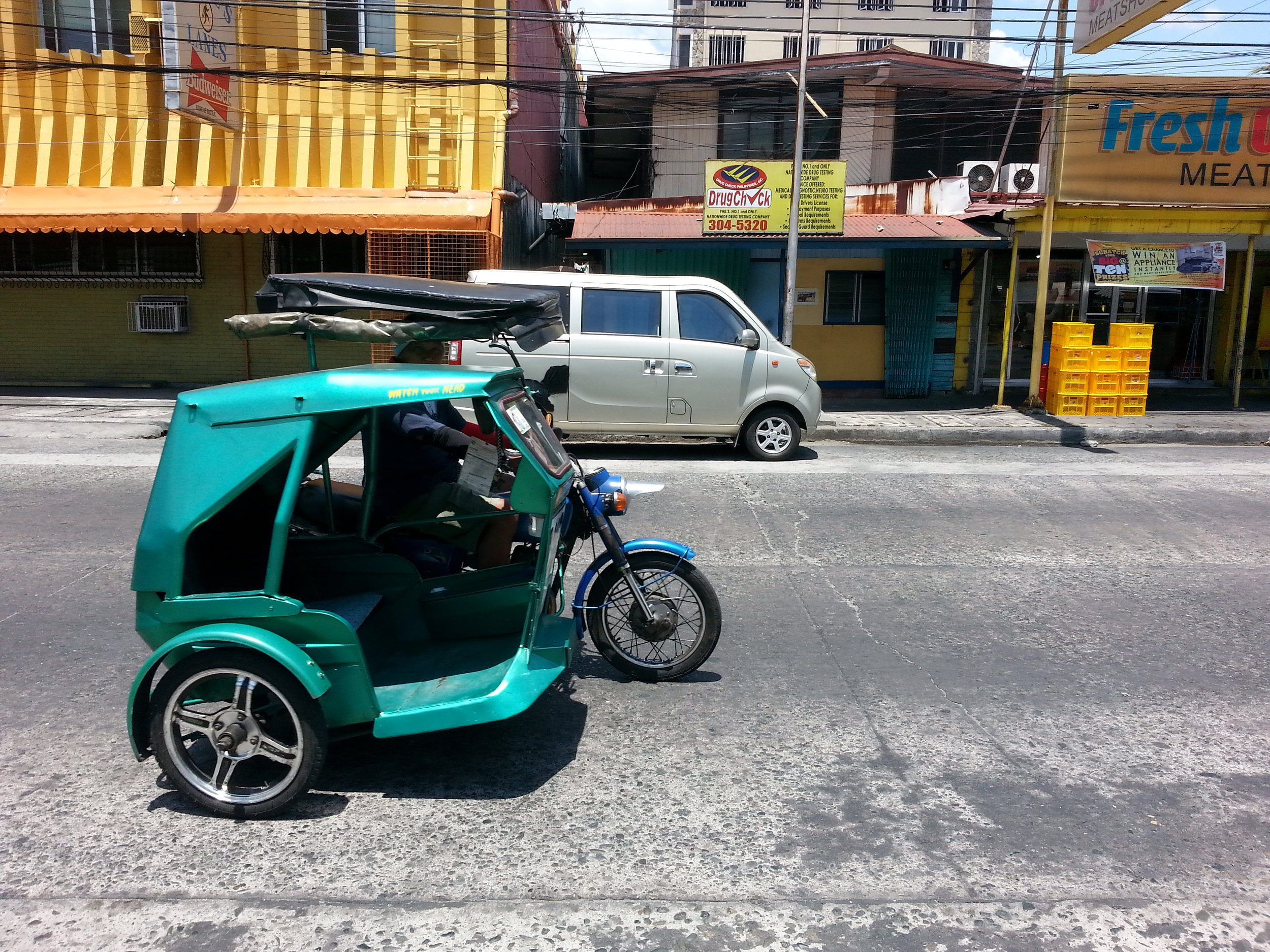 Don't forget to take a ride in the PI's much cheaper and more dangerous version of a taxicab! The Trike Bike!