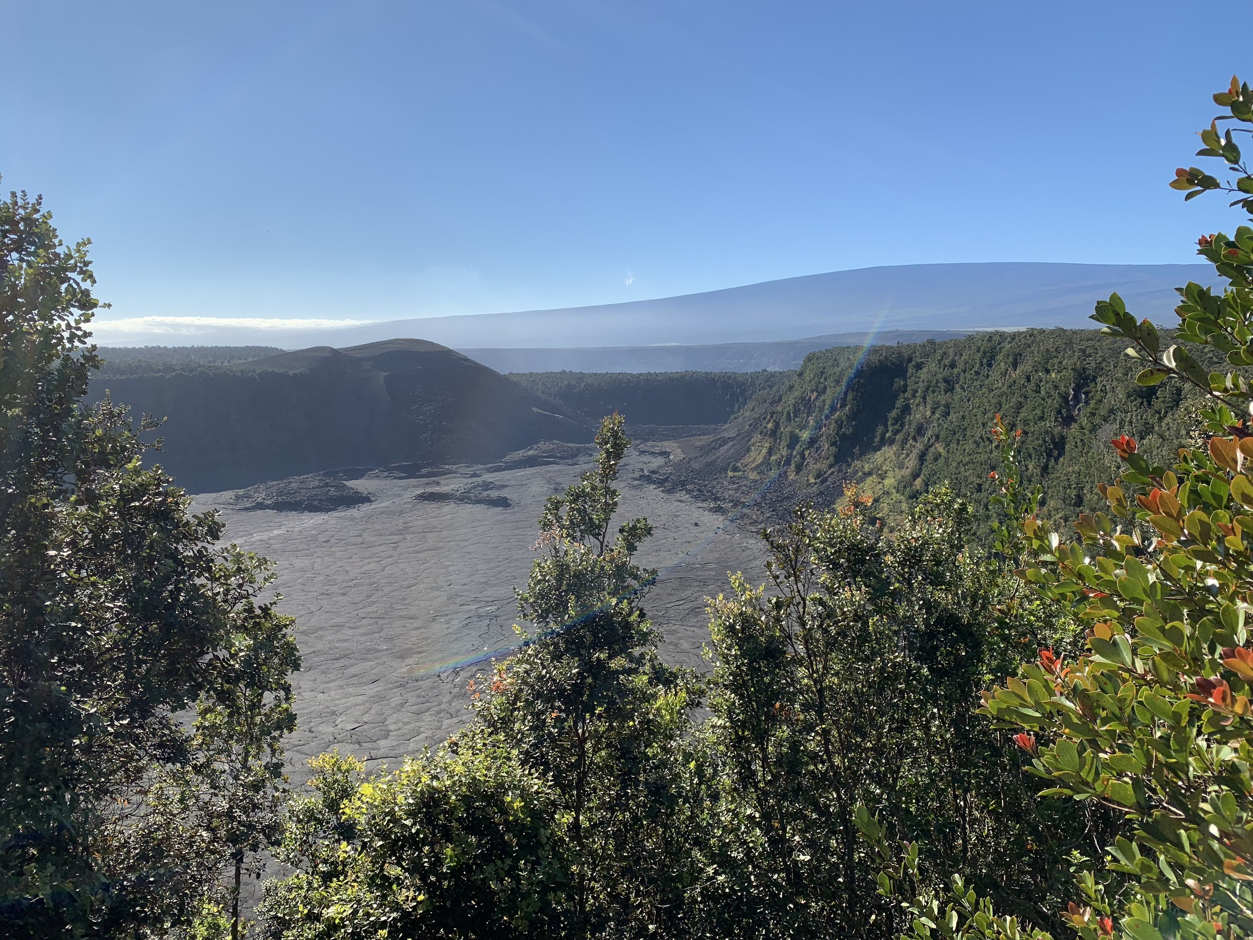 One of our first views was the Kilauea Iki overlook